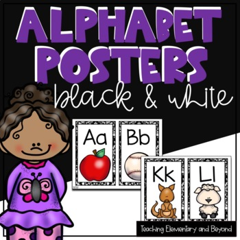 Alphabet Posters with a Black & White Background