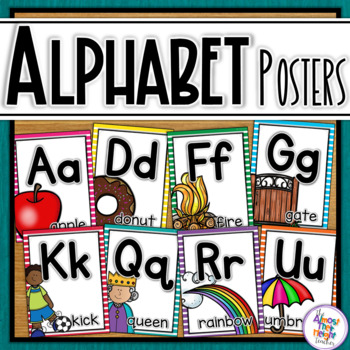 Alphabet Posters with bright frames
