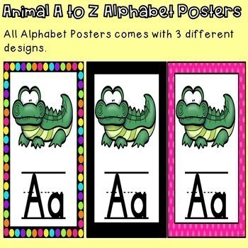 Alphabet Posters with an Animal Theme