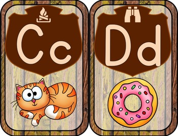 Alphabet Posters with digraphs (Camping Theme)