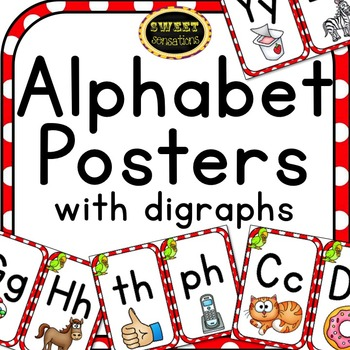 Alphabet Posters with digraphs (Pirate Theme)