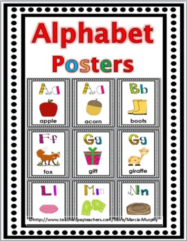 Alphabet Posters (with short & long vowels & hard & soft c