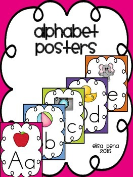 Alphabet Posters without Lined Print