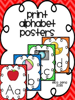 Alphabet Posters without Print Lines: Chevron