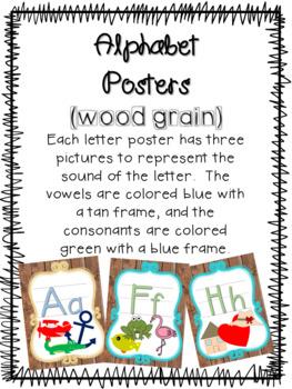 Alphabet Posters (wood grain)