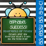 Alphabet Review PowerPoint - Busy Bee Theme