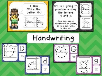 Alphabet PowerPoint BUNDLE- PART ONE- Letters A-M Letters, Sounds, Handwriting
