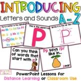 Alphabet PowerPoint Lessons A-Z Bundle, Letter Names, Sounds
