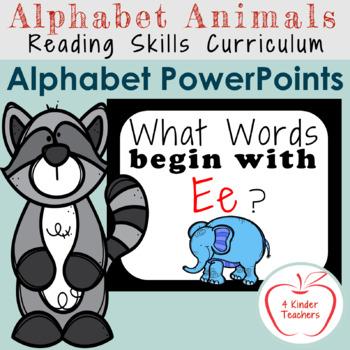 Alphabet PowerPoint - Words That Begin With Ee