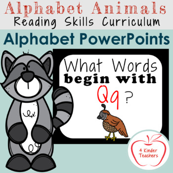 Alphabet PowerPoint - Words That Begin with Qq