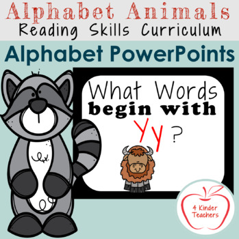 Alphabet PowerPoint - Words That Begin with Yy