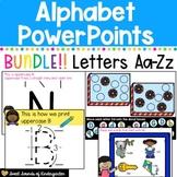 Alphabet PowerPoints BUNDLE Letters A-Z {Distance Learning}