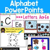 Alphabet PowerPoints Letters A-E {Distance Learning}