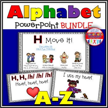 Alphabet Activities Letter Sounds Powerpoints: A-Z Bundle