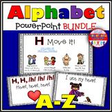 Alphabet Activity Letter Sounds PowerPoint BUNDLE
