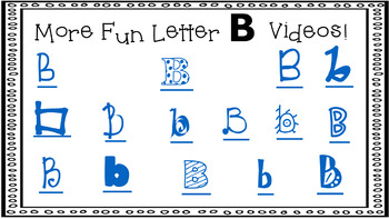 Alphabet Activity - Letter Sounds - Powerpoint: The Letter B