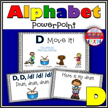Alphabet Activity - Letter Sounds - Powerpoint: The Letter D