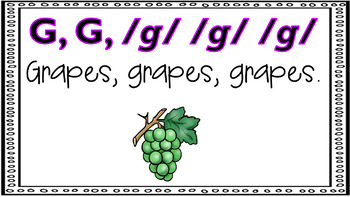 Alphabet Activity - Letter Sounds - Powerpoint: The Letter G