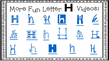Alphabet Activity - Letter Sounds - Powerpoint: The Letter H