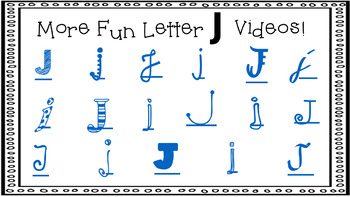 Alphabet Activity - Letter Sounds - Powerpoint: The Letter J