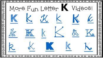 Alphabet Activity - Letter Sounds - Powerpoint: The Letter K
