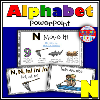 Alphabet Activity - Letter Sounds - Powerpoint: The Letter N