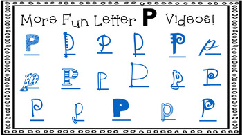 Alphabet Activity - Letter Sounds - Powerpoint: The Letter P