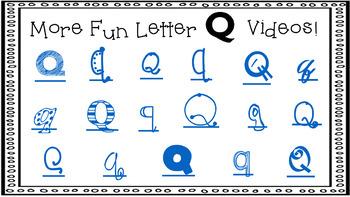 Alphabet Activity - Letter Sounds - Powerpoint: The Letter Q