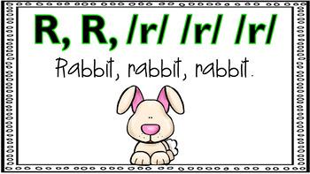 Alphabet Activity - Letter Sounds - Powerpoint: The Letter R