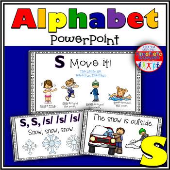 Alphabet Activity - Letter Sounds - Powerpoint: The Letter S