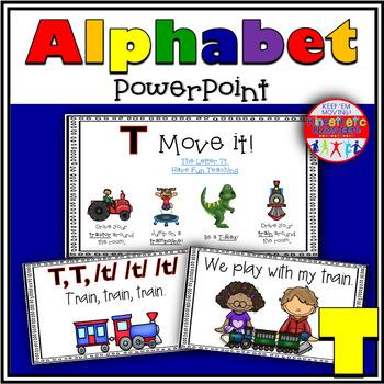 Alphabet Activity - Letter Sounds - Powerpoint: The Letter T