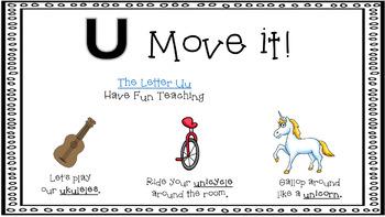 Alphabet Activity - Letter Sounds - Powerpoint: The Letter U