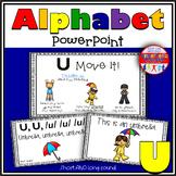 Alphabet Activity Letter Sound U PowerPoint