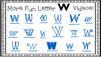 Alphabet Activity - Letter Sounds - Powerpoint: The Letter W