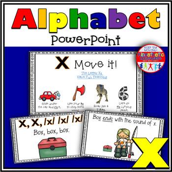 Alphabet Activity - Letter Sounds - Powerpoint: The Letter X