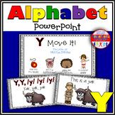 Alphabet Activity Letter Sound Y PowerPoint