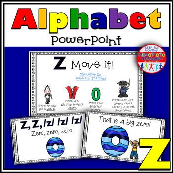 Alphabet Activity - Letter Sounds - Powerpoint: The Letter Z