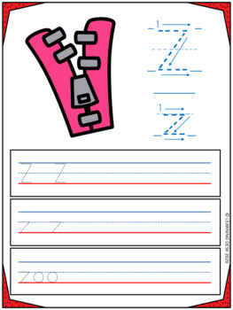 Alphabet Worksheets Handwriting Practice Activity
