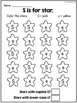 Alphabet Worksheets - Letter Recognition (Find and Count)