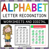 Alphabet Worksheets A-Z Kindergarten - Letter Recognition (Find and Count)