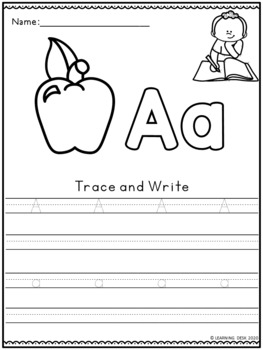 Alphabet Worksheets (Trace and Write)
