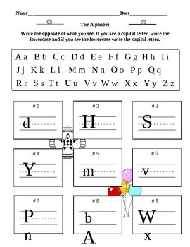 Alphabet Practice 5 Pages