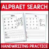 Alphabet Letter Search Handwriting PracticeA-Z