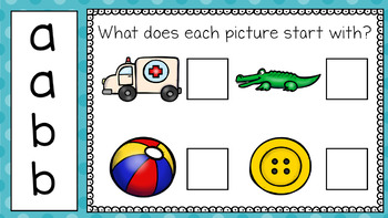 Alphabet Practice: A and B (For PowerPoint and Google Classroom)