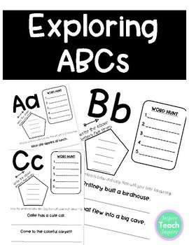 Alphabet Practice Activities **NO PREP** ABC Exploration