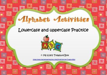 Alphabet Practice Activities - Pre K, Kindergarten, Grade 1