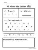 Alphabet Practice - All About the Letters - Plus Alphabet Flashcards