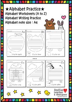 alphabet practice alphabet worksheet alphabet writing alphabet note