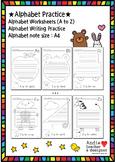 Alphabet Practice / Alphabet Worksheet / Alphabet Writing