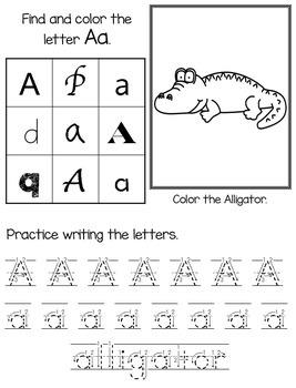 Alphabet Practice Book